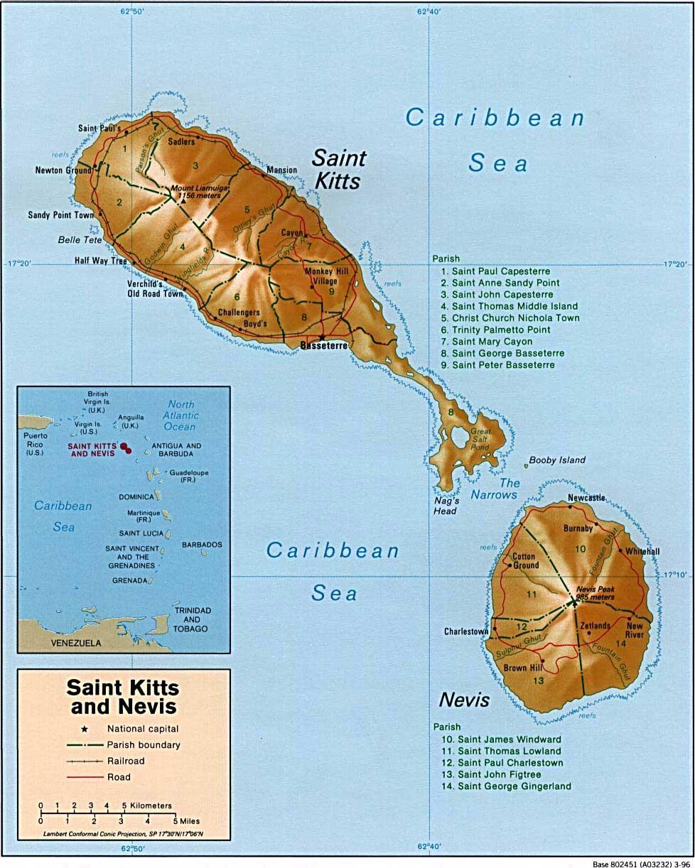 聖基茨地理位置圖