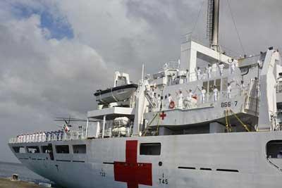 """中國海軍""""和平方舟""""醫院船結束訪.."""